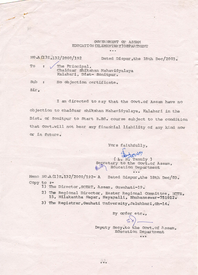 Doc12401754 Format of No Objection Certificate from Employer – Employer Certificate Format